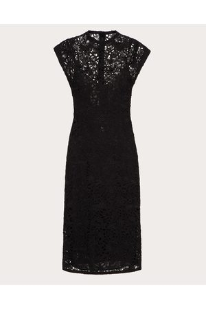 VALENTINO Blossom Macramé Dress Women Polyester 11%, Cotton 89% 36