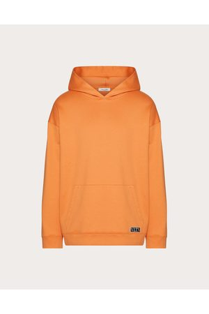 VALENTINO Hooded Sweatshirt With Vltn Tag Embellishment Man Cotton 94% L