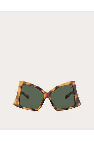 VALENTINO Butterfly Sunglasses In Acetate With Roman Stud Women Havana/ Acetate 100% OneSize