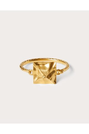 VALENTINO GARAVANI Roman Stud Hammered-effect Metal Bracelet Women Antique Brass Brass 100% L