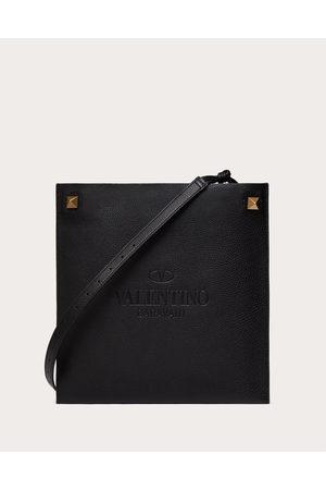 VALENTINO GARAVANI Valentino Garavani Identity Leather Crossbody Bag Man 100% Pelle Di Vitello - Bos Taurus OneSize