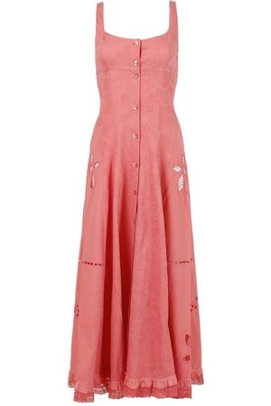 Marine Serre Women Dresses - X The Webster Regenerated Pillowcase Button Up Dress