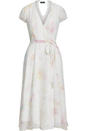 Polo Ralph Lauren Women Printed Dresses - Floral Crinkle Wrap Dress