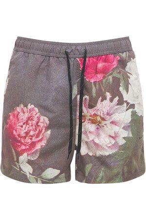 Soulland William Flower Print Shorts