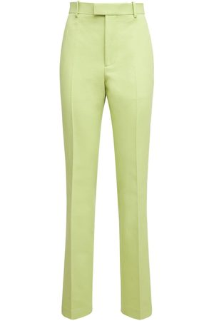 Bottega Veneta Double Cotton Canvas Straight Leg Pants