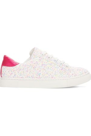 Colors of California Glittered Faux Leather Lace-up Sneakers