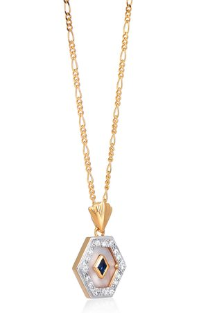 V by Laura Vann Esme 18kt gold-plated necklace