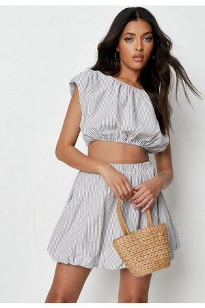 Missguided Co Ord Stripe Poplin Sleeveless Crop Top