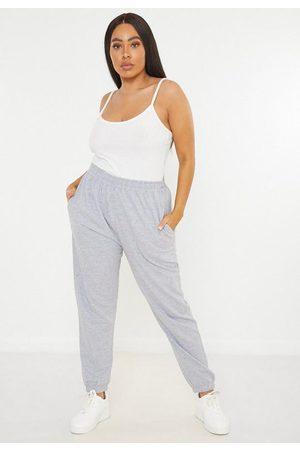 Missguided Women Sweatpants - Plus Size Gray Basic Joggers