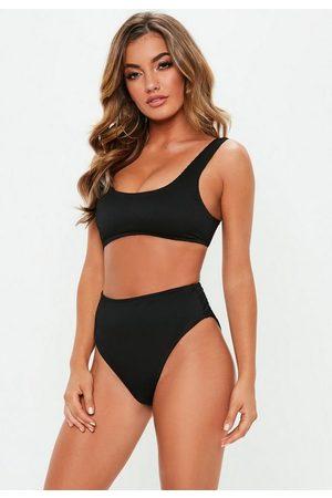 Missguided Women Bikinis - Rib Mix And Match Scoop Neck Bikini Top