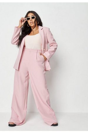 Missguided Women Pants - Plus Size Co Ord Oversized Masculine Pants