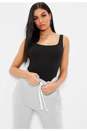 Missguided Square Neck Cotton Jersey Bodysuit