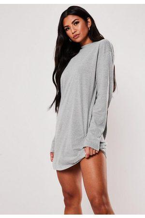 Missguided Long Sleeve T-Shirt Dress