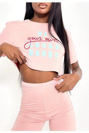 Missguided Women Pajamas - Sugar Daddy Graphic Short Pyjama Set
