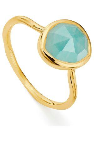 Monica Vinader Gold Siren Stacking Ring Amazonite