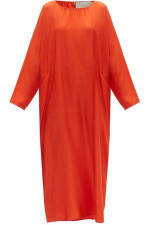 ASCENO Rhodes Silk-twill Maxi Dress - Womens