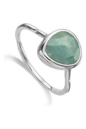 Monica Vinader Siren Aquamarine Stacking Ring, Sterling Silver