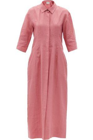 ASCENO New York Organic-linen Shirt Dress - Womens - Dusty