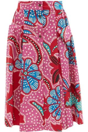 Rhode Tiana Floral-print Cotton-poplin Midi Skirt - Womens - Print