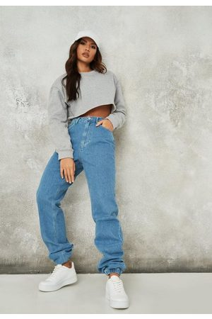 Missguided Tall Stone Wash Jogger Mom Jeans