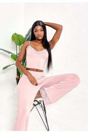 Missguided Blush Lace Trim Cami Pyjama Set