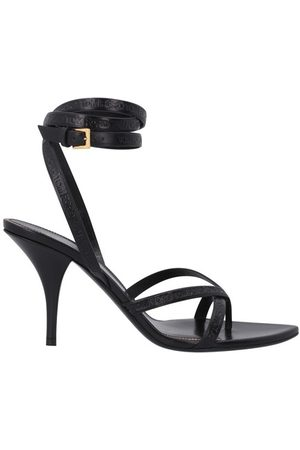 Tom Ford Logo ankle wrap thong sandals