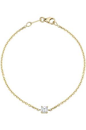 Anita 18k Asscher Cut Diamond Chain Bracelet
