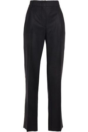 CASASOLA Women Straight Leg Pants - Woman Pleated Wool And Silk-blend Twill Straight-leg Pants Size 40