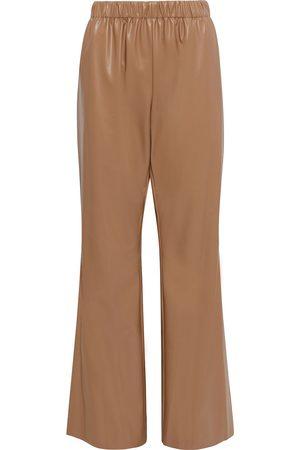 Deveaux Woman Savannah Faux Leather Wide-leg Pants Light Size 10
