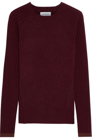 NAADAM Woman Paneled Ribbed Cashmere Sweater Merlot Size S