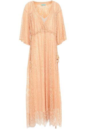 Melissa Odabash Women Beach Dresses - Woman Mel Cotton-blend Corded Lace Kaftan Pastel Size ONESIZE