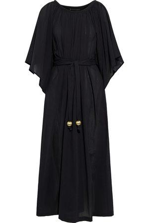 Lisa Marie Fernandez Woman Angel Sleeve Belted Gathered Cotton-gauze Kaftan Size 2