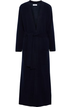 NAADAM Women Cardigans - Woman Belted Ribbed-knit And Cotton And Cashmere-blend Fleece Cardigan Navy Size S