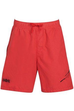STONE ISLAND SHADOW PROJECT Men Swim Shorts - Embroidered swim trunks