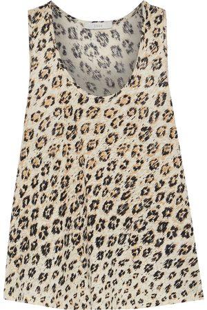 JOIE Woman Colman Leopard-print Slub Linen-jersey Tank Animal Print Size L