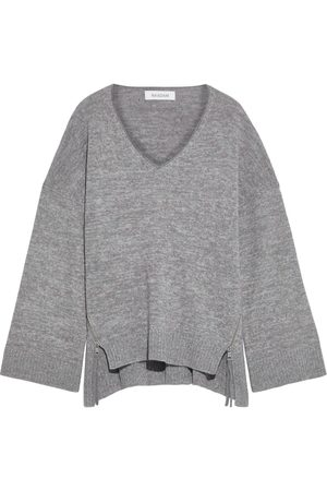 NAADAM Woman Zip-detailed Marled Wool And Cashmere-blend Sweater Lilac Size S