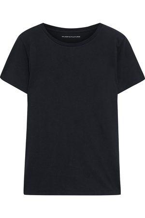 MAJESTIC FILATURES Woman Cotton-jersey T-shirt Midnight Size 2