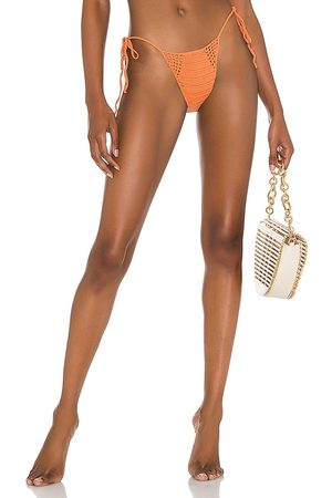 Cult Gaia Dylan Bikini Bottom in Orange.
