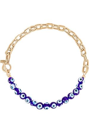 8 Other Reasons Evil Eye Chain Necklace in Metallic .