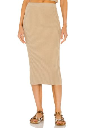 ENZA COSTA Women Pencil Skirts - Rib Sweater Knit Pencil Skirt in Taupe.