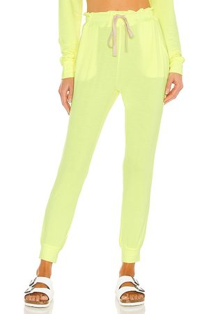 Stripe & Stare Lounge Pant in Green.