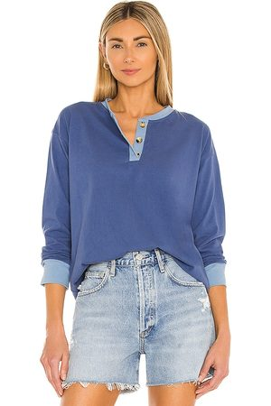 Donni. Duo Henley Long Sleeve Top in .