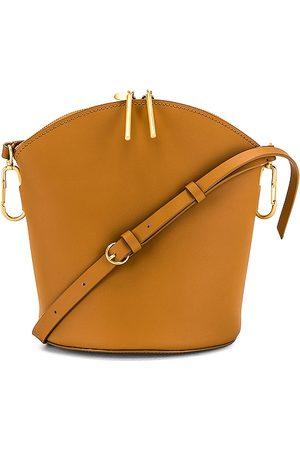 ZAC Zac Posen Belay Zip Top Shoulder Bag in Tan.