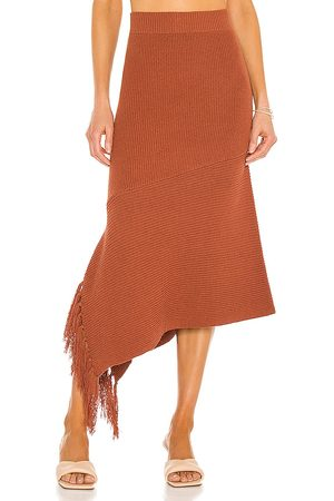 A.L.C. Costello Skirt in Rust.
