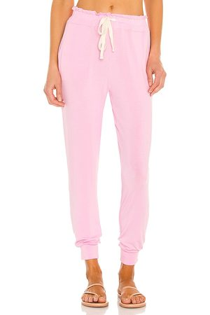 Stripe & Stare Women Sweats - Candy Floss Lounge Pant in Pink.