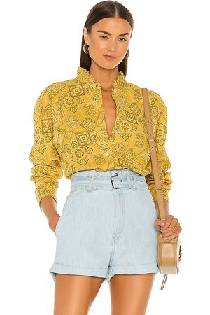 Overlover Floye Button Up Top in Yellow.