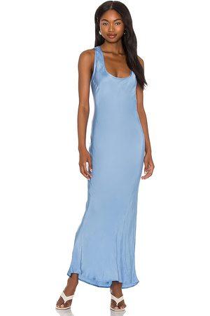 Cali Dreaming Simple Slip Dress in Baby Blue.