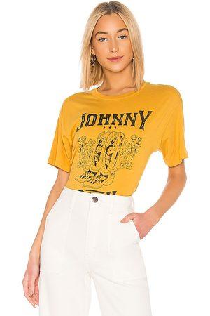 DAYDREAMER Johnny Cash Boots Tee in Mustard.