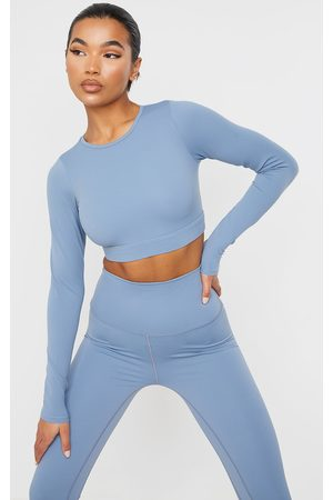 PRETTYLITTLETHING Sculpt Luxe Long Sleeve Sports Top