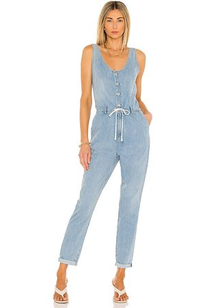 Paige Christy Utility Jumpsuit in Blue.